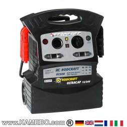 RODCRAFT Avviatore di Emergenza Auto / Jump Starter / Booster Batteria RC600 12V e 24V