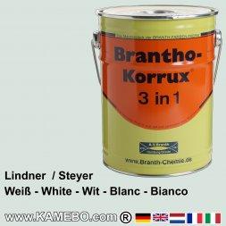 BRANTHO-KORRUX 3 in 1 Rostschutzfarbe für Landmaschinen Lindner und Steyr Weiß