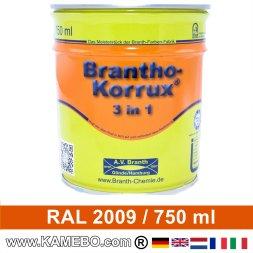 BRANTHO-KORRUX 3in1 Rostschutzlack RAL 2009 Verkehrsorange 750 ml