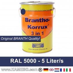 BRANTHO-KORRUX 3in1 Rostschutzfarbe RAL 5000 Violettblau 5 Liter