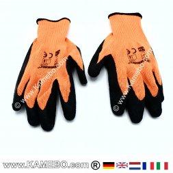 Schutzhandschuhe Signalfarbe Orange Gr. L / 10