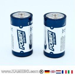 C Batterie super alcaline di tipo LR14 2 pezzi
