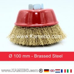 Brassed Steel Crimp Cup Ø 100 mm