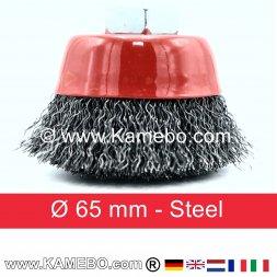 Topfbürste Stahldraht gewellt Ø 65 mm