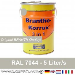 BRANTHO-KORRUX 3in1 Anti Roest Lakverf RAL 7044 Zijdegris A 5 Liter