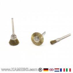 Messingbürsten 3 mm für Rotationswerkzeuge 3 Stück