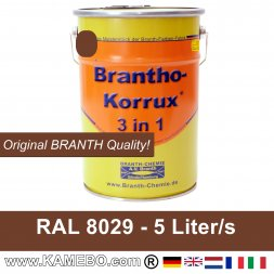 BRANTHO-KORRUX 3in1 Metal Protection Coating RAL 8029 Pearl copper 5 Litres