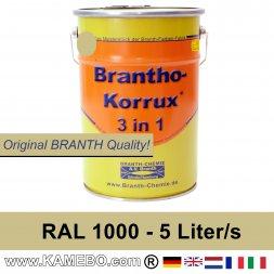 BRANTHO-KORRUX 3in1 Anti Roest Lakverf RAL 1000 Groenbeige 5 Liter
