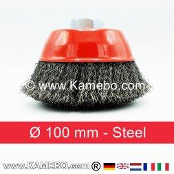 Topfbürste Stahldraht gewellt Ø 100 mm