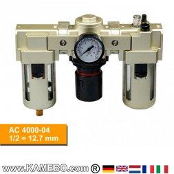 HJC Druckluft-Wartungseinheit 3teilig AC 4000-04
