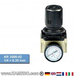 HJC Druckluft Regler mit Manometer AR 3000-02
