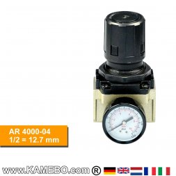 HJC Druckluft Regler mit Manometer AR 4000-04