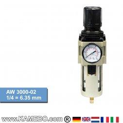 HJC Druckluft Regler mit Filter und Manometer AW 3000-02