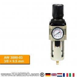 HJC Druckluft Regler mit Filter und Manometer AW 3000-03