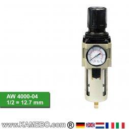 HJC Druckluft Regler mit Filter und Manometer AW 4000-04
