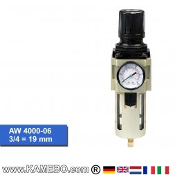 HJC Druckluft Regler mit Filter und Manometer AW 4000-06