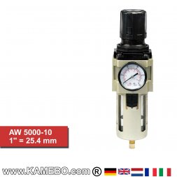 HJC Druckluft Regler mit Filter und Manometer AW 5000-10