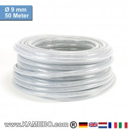 AS Druckluftschlauch Gewebeschlauch PVC 09mm 50 Meter lang