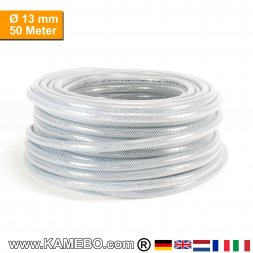 AS Druckluftschlauch Gewebeschlauch PVC 13mm 50 Meter lang