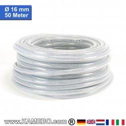 AS Druckluftschlauch Gewebeschlauch PVC 16mm 50 Meter lang