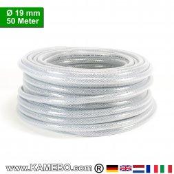 AS Druckluftschlauch Gewebeschlauch PVC 19mm 50 Meter lang