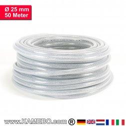 AS Druckluftschlauch Gewebeschlauch PVC 25mm 50 Meter lang