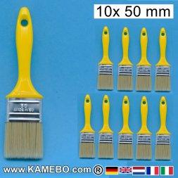 Flachpinsel 50 mm breit 10 Stück
