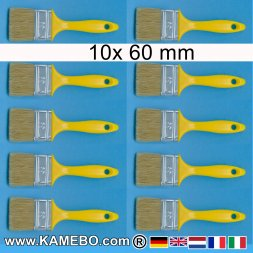 Flachpinsel 60 mm breit 10 Stück