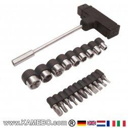 TASK Steckschlüssel mit T-Griff 21 Teile