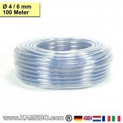 PVC Schlauch Glasklar 04/06mm 100 Meter lang