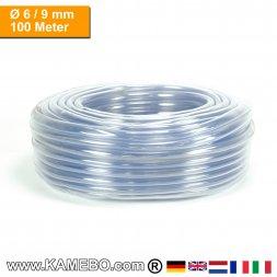 PVC Schlauch Glasklar 06/09mm 100 Meter lang