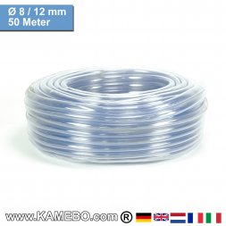PVC Schlauch Glasklar 08/12mm 50 Meter lang