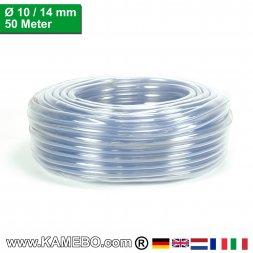 PVC Schlauch Glasklar 10/14mm 50 Meter lang