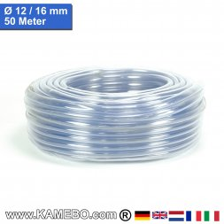 PVC Schlauch Glasklar 12/16mm 50 Meter lang