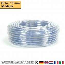 PVC Schlauch Glasklar 14/18mm 50 Meter lang