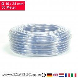 PVC Schlauch Glasklar 19/24mm 50 Meter lang