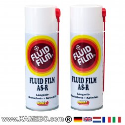FLUID FILM AS-R Olio Antiruggine Bomboletta 400 ml 2 Pezzi