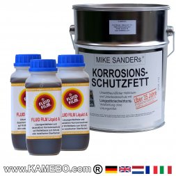 MIKE SANDER's Korrosionsschutzfett 4 kg + 3 Liter FLUID FILM Liquid A