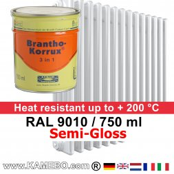 Heizkörperlack Seidenglänzend RAL 9010 Weiß 750 ml
