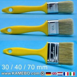 Brushes 30 mm 40 mm and 70 mm