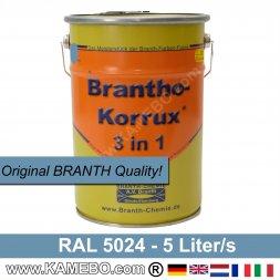 BRANTHO-KORRUX 3in1 Rostschutzfarbe RAL 5024 Pastellblau 5 Liter