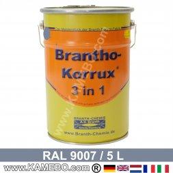 BRANTHO-KORRUX 3in1 Rostschutzlack RAL 9007 Graualuminium 5 Liter