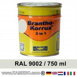 BRANTHO-KORRUX 3in1 Rostschutzlack RAL 9002 Grauweiss 750 ml