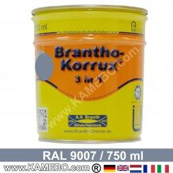 BRANTHO-KORRUX 3in1 Rostschutzlack RAL 9007 Graualuminium 750 ml