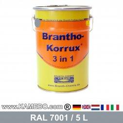 BRANTHO-KORRUX 3in1 Rostschutzlack RAL 7001 Silbergrau 5 Liter