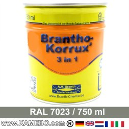 BRANTHO-KORRUX 3in1 Rostschutzlack RAL 7023 Betongrau 750 ml
