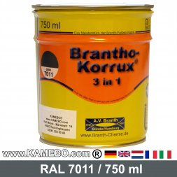 BRANTHO-KORRUX 3in1 Anti Roest Lakverf RAL 7011 Ijzergrijs 750 ml
