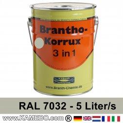 BRANTHO-KORRUX 3in1 Rostschutzlack RAL 7032 Kieselgrau 5 Liter