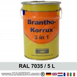BRANTHO-KORRUX 3in1 Rostschutzlack RAL 7035 Lichtgrau 5 Liter