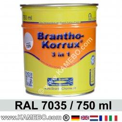 BRANTHO-KORRUX 3in1 Rostschutzlack RAL 7035 Lichtgrau 750 ml